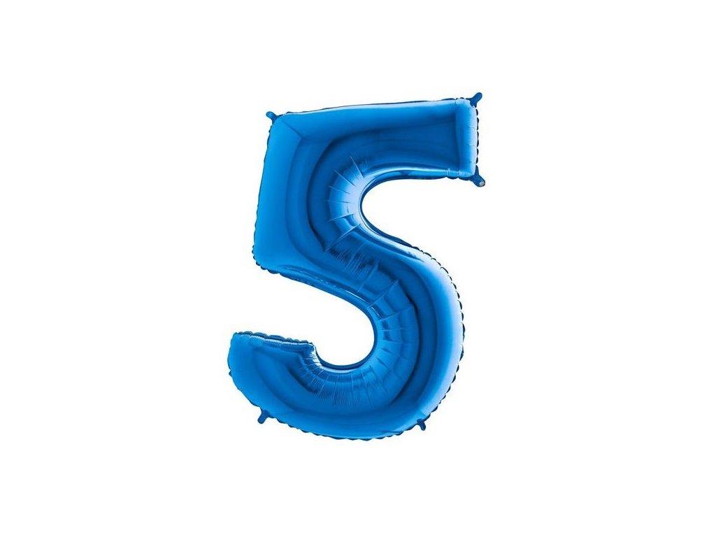 balonek cislo 5 modry 86cm