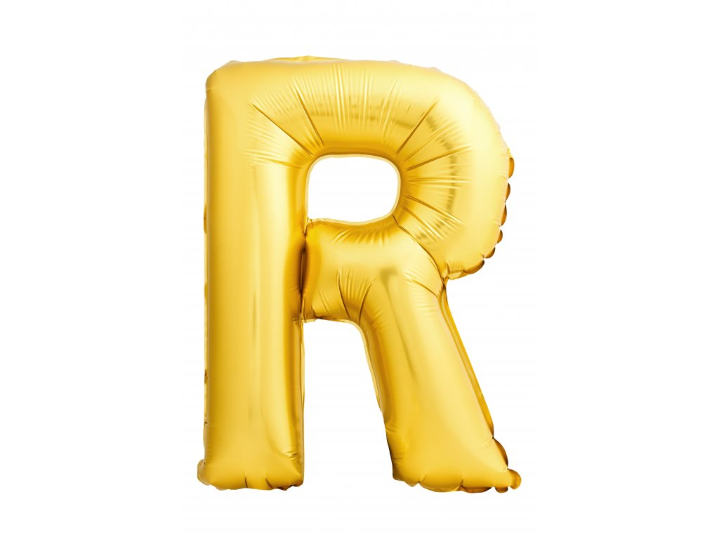 letter r made inflatable balloon isolated white background