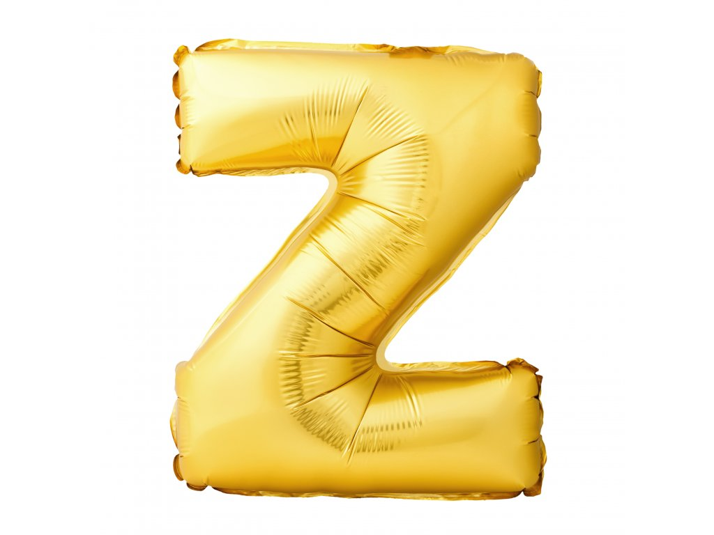 letter z made inflatable balloon isolated white background