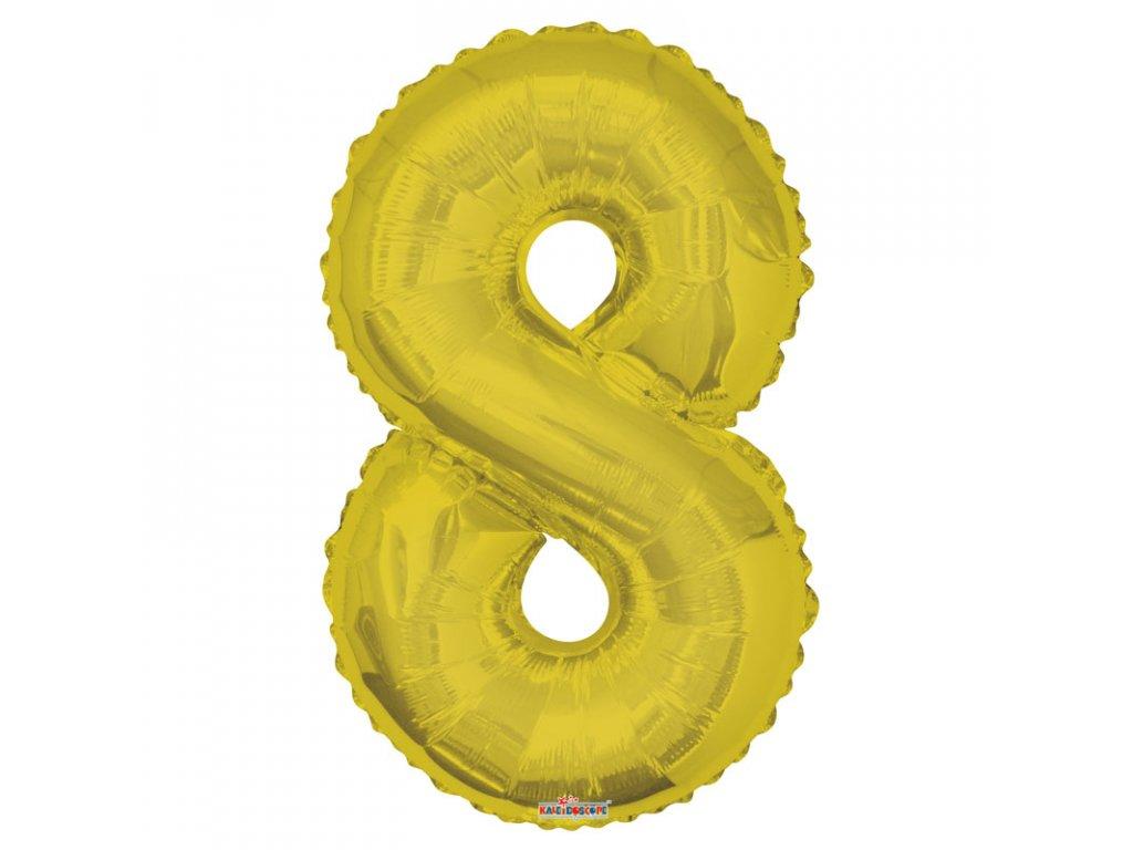 balonek cislo 0 zlaty 86cm