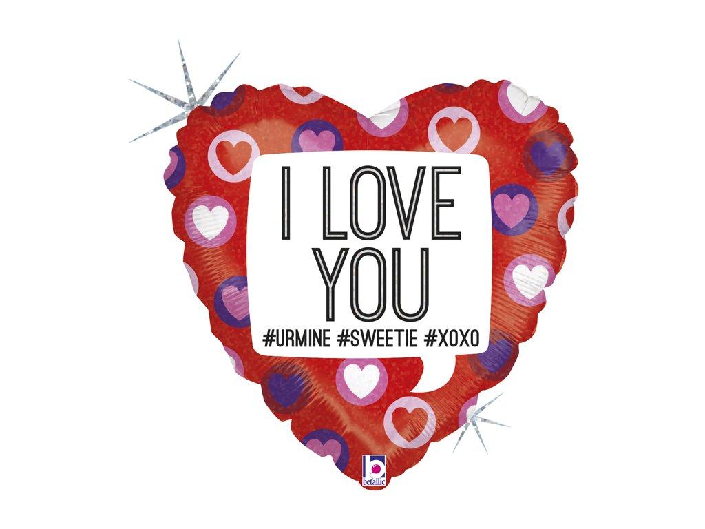 balonky narozeninové párty srdce valentýn dárky dárek i love you