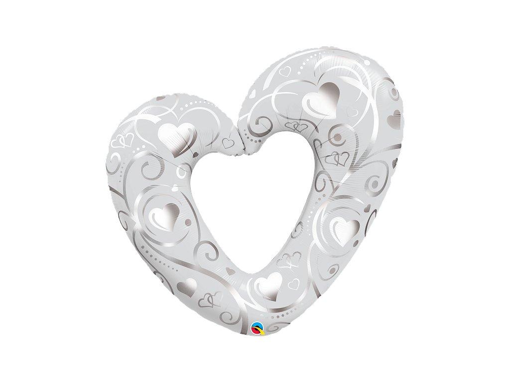 valentýnské srdce svatební dekorace výzdoba balonky párty narozeninové
