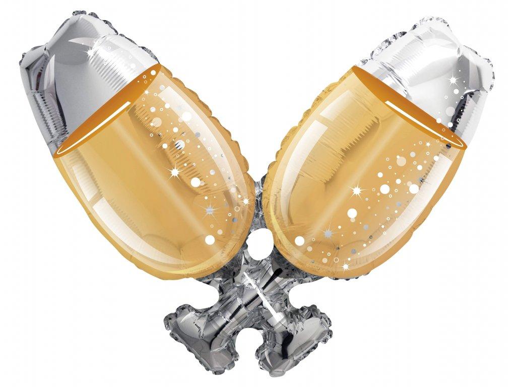 balonky narozeninové párty srdce valentýn dárky dárek šampaňské láhev sektu svatevní svatba sklenice