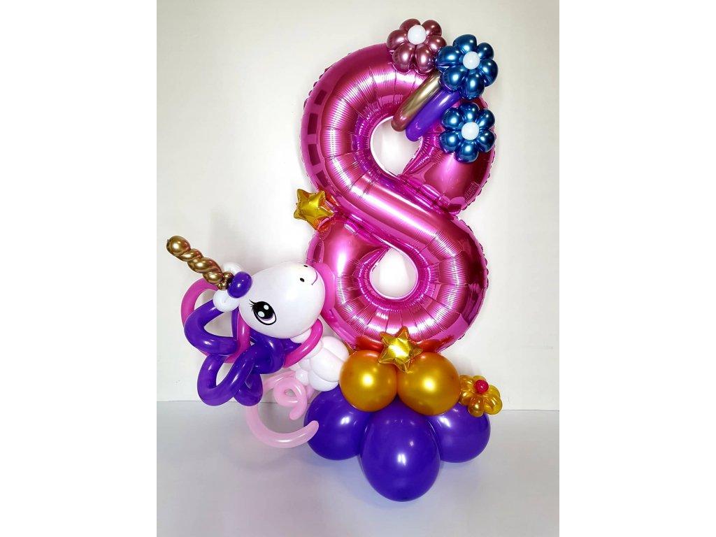 jednorožec unicorn balloon bouguet narozeninové balónky párty dárek dárky