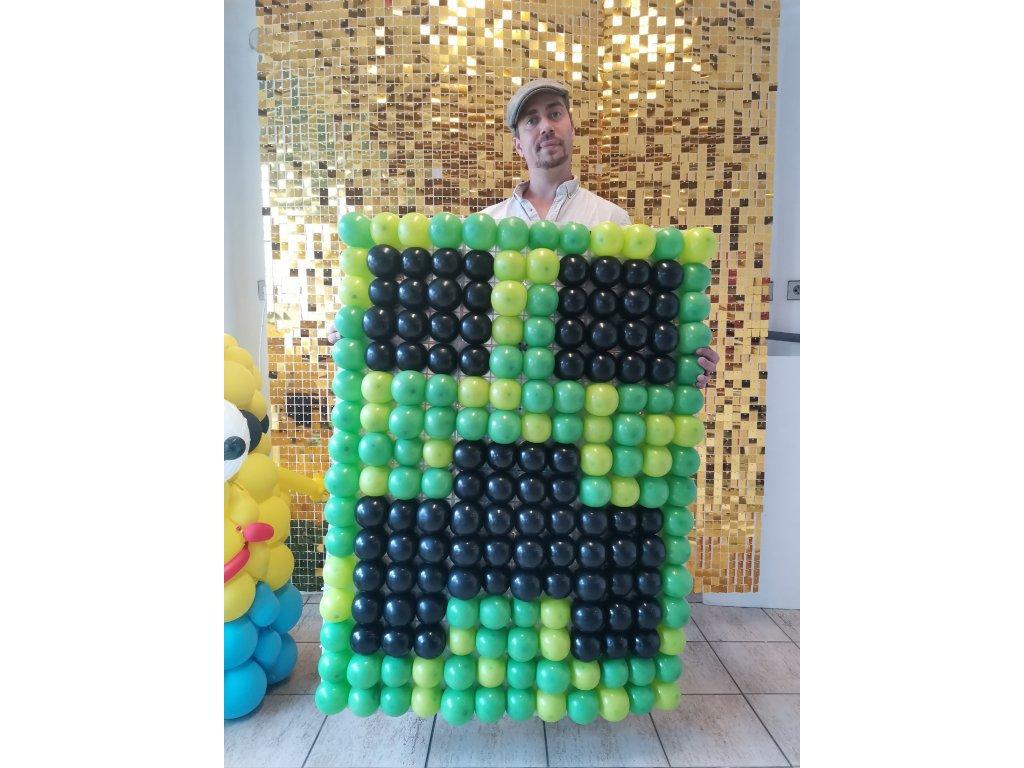 minecraft steve creeper hry pro děti dárek dekorace narozeninové párty oslava dětská balonek balonky (2)