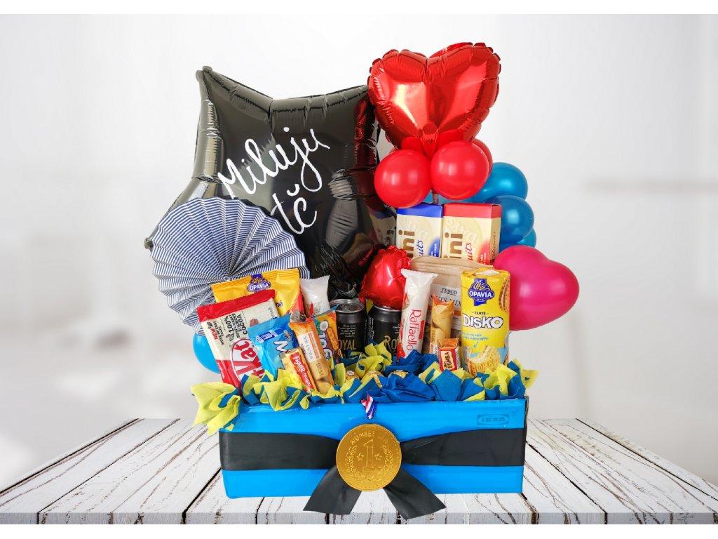 box s překvapením bedýnka sladkosti dárek dárky balónky narozeninové párty (1)