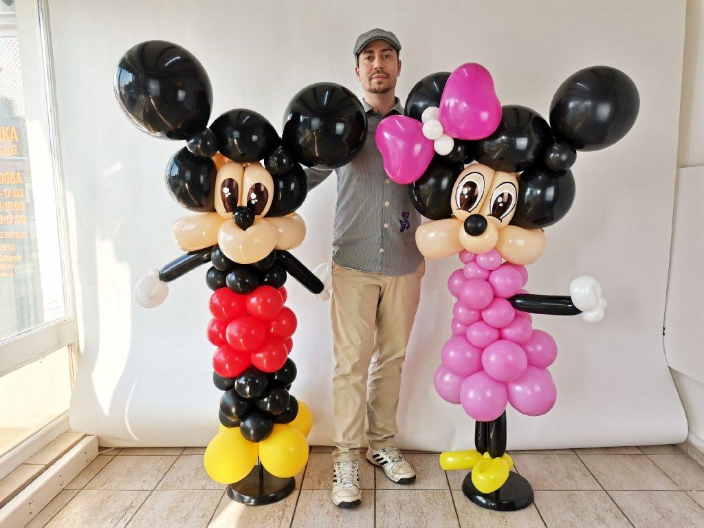 drak dráček dragon balloon balonky balonků narozeninové párty děti s dětmi dinosaurus slon slůně sloník slona minnie myška mickey mouse dicney balloon