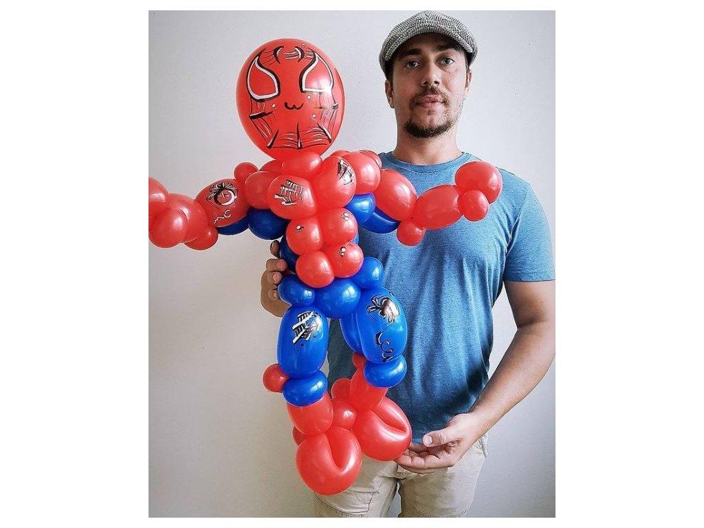 spiderman superhrdina avengers marvel komix narozeniny narozeninové balonky balonek s číslem happy birthday párty svatba svatební