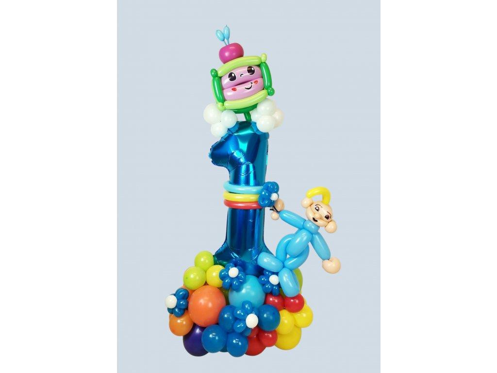 Cocomelon narozeninové balonky párty děti pro dárky dárek balonek z balonků pohádka (1)