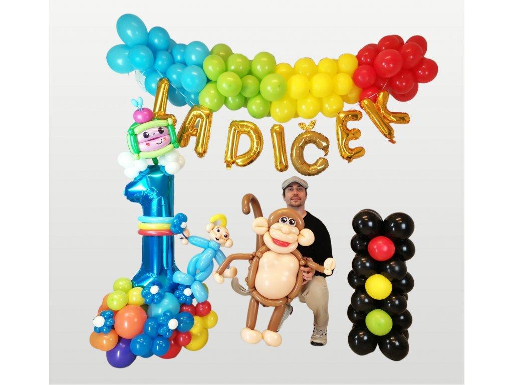 Cocomelon narozeninové balonky párty děti pro dárky dárek balonek z balonků pohádka opice opička mimino (2)
