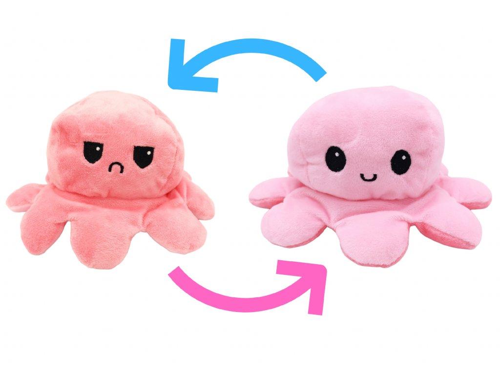 Plyšová Chobotnice Růžová