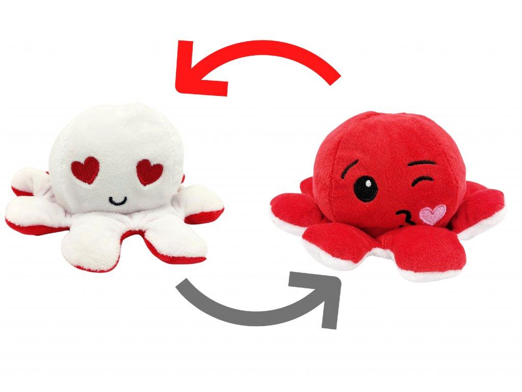 chobotnička chobotnice plyšová oboustranná měnící obličej octopus reversable reverse pro děti (1)