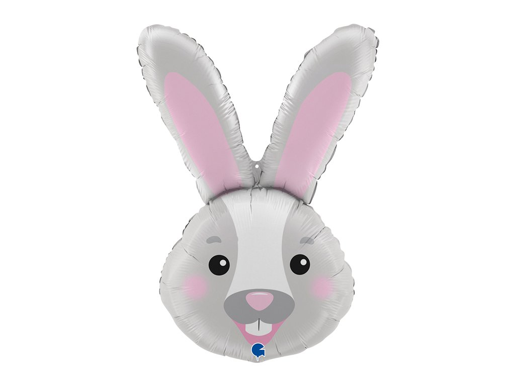 zlaté balónky s konfety narozeninové balonky svatební zajíček zajíc králík králíček easter bunny head velikonoce