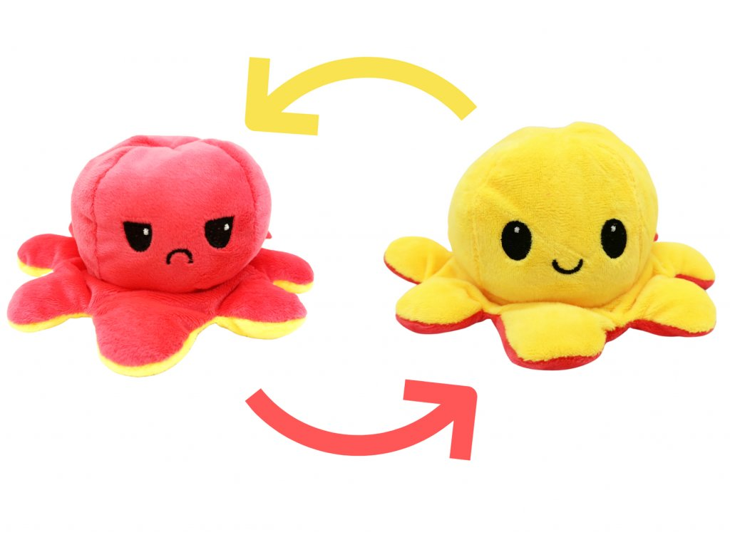Plyšová Chobotnice žlutá