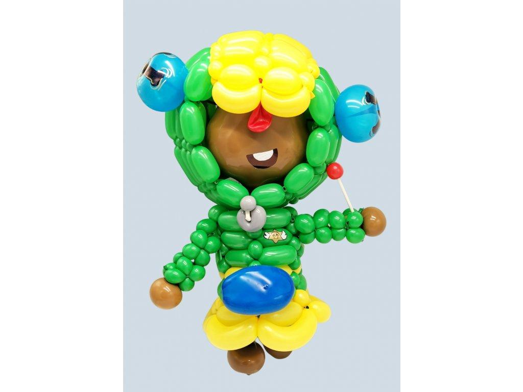 Leon Brawl Stars heroes děti pro děti balónky z balónků narozeninové párty hračky mobilní hry (1)