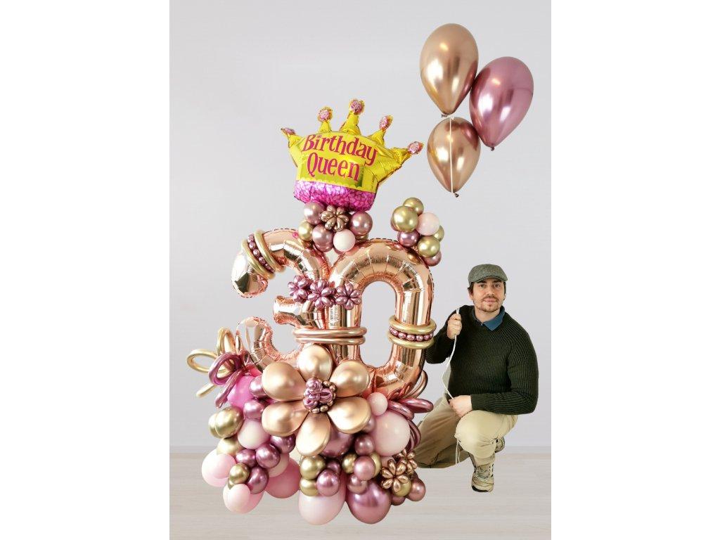 narozeninové balonky z balonku párty dárek dárky třicet třicátiny třicetiny pro ni (1)