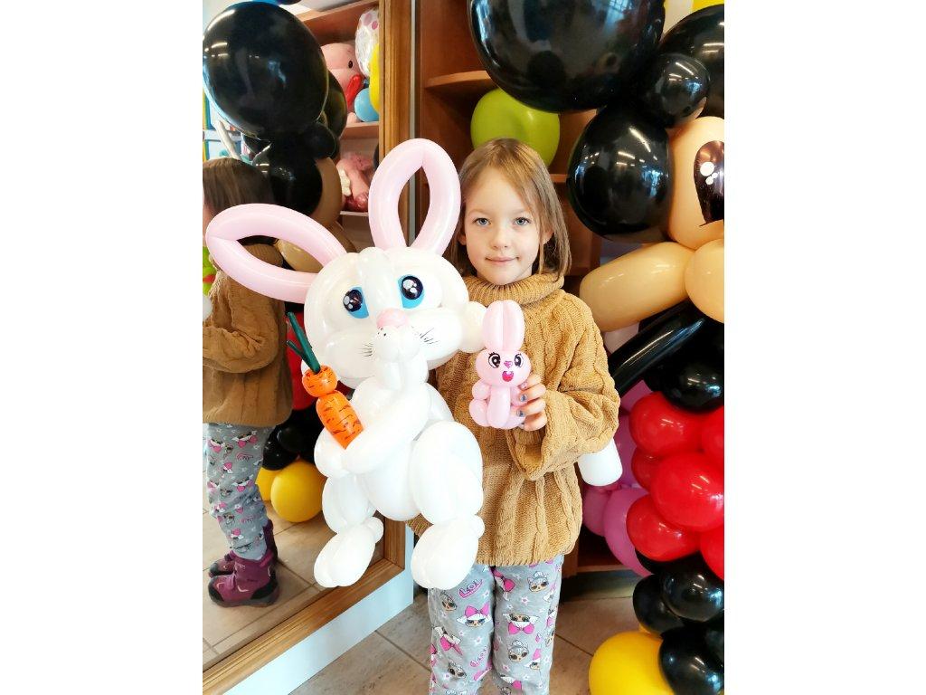 králík králíček zajíc zajíček pro děti s dětmi balonky balonkový balonku párty narozeninové dárek dárky (3)