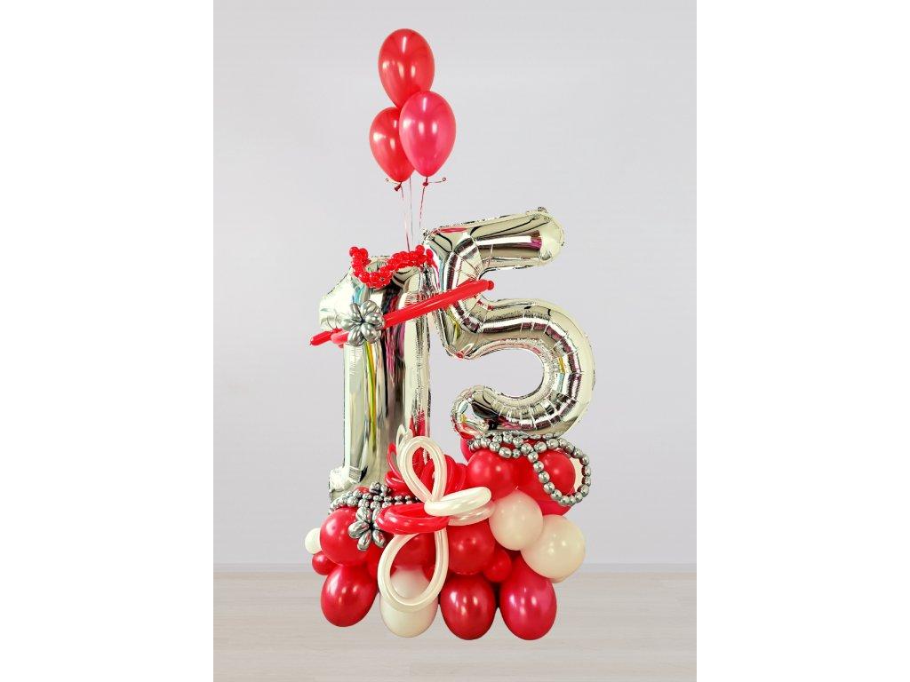 balonky narozeninové čísla číslo párty balonek balonkové 1 5 výzdoba oslava dekorace