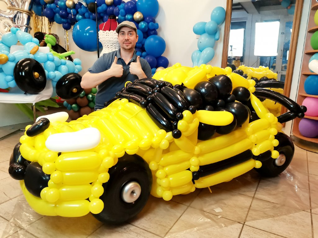lambo lamborgini lamborghini auto autíčko balonek balonky dárek dárky pro děti dárek pro manžela přítele příteli car balloon (4)