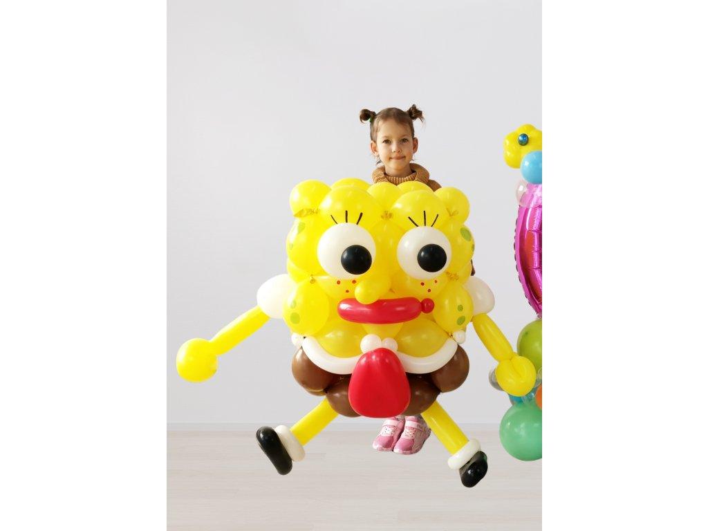 výzdoba dekorace balloon decor spongebob v kalhotách narozeninové párty balonky balonek číslo čísla ananas děti dárek dárky oslava narozeniny (2)