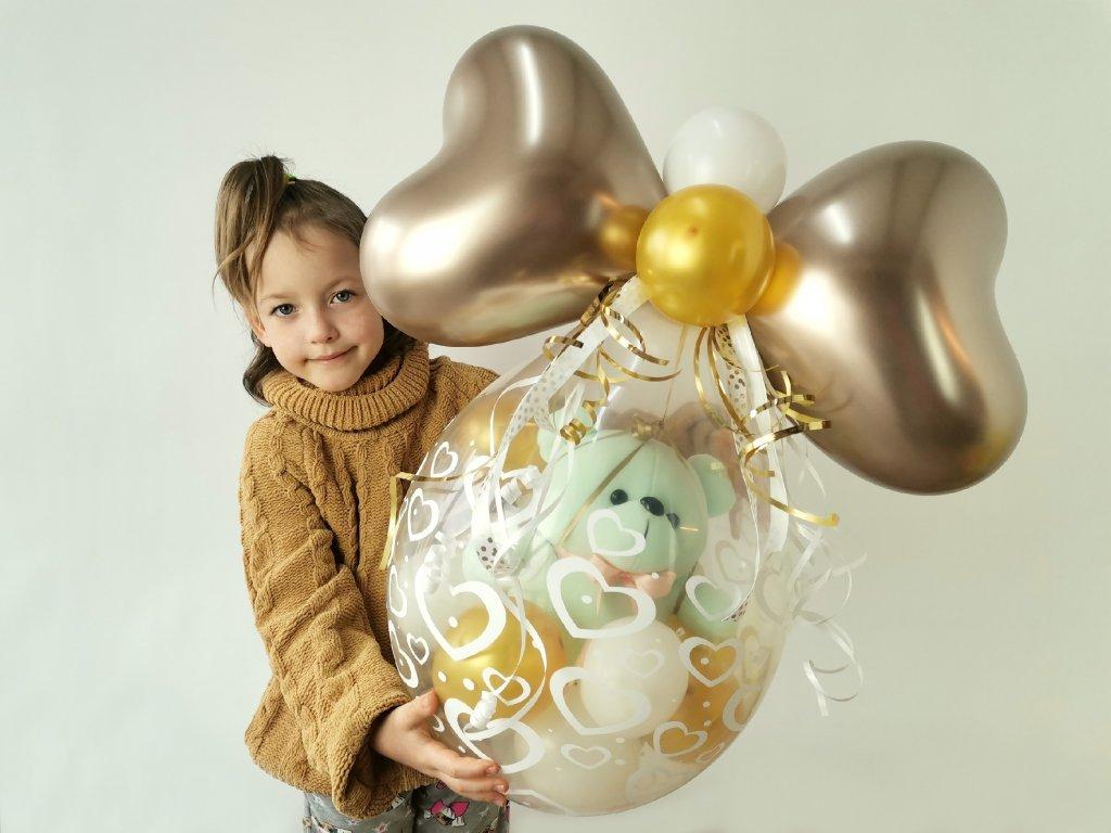 medvídek medvěd plyšák teddy bear balonek balonky balonku narozeninové párty dárek dárky (1)
