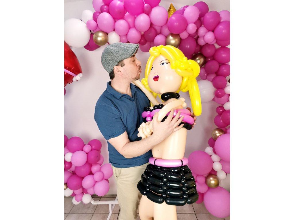 balonek balonky striptýz striptérka nafukovací panna sexy erotické dárky dárek panenka czech girl balonek balonky (1)