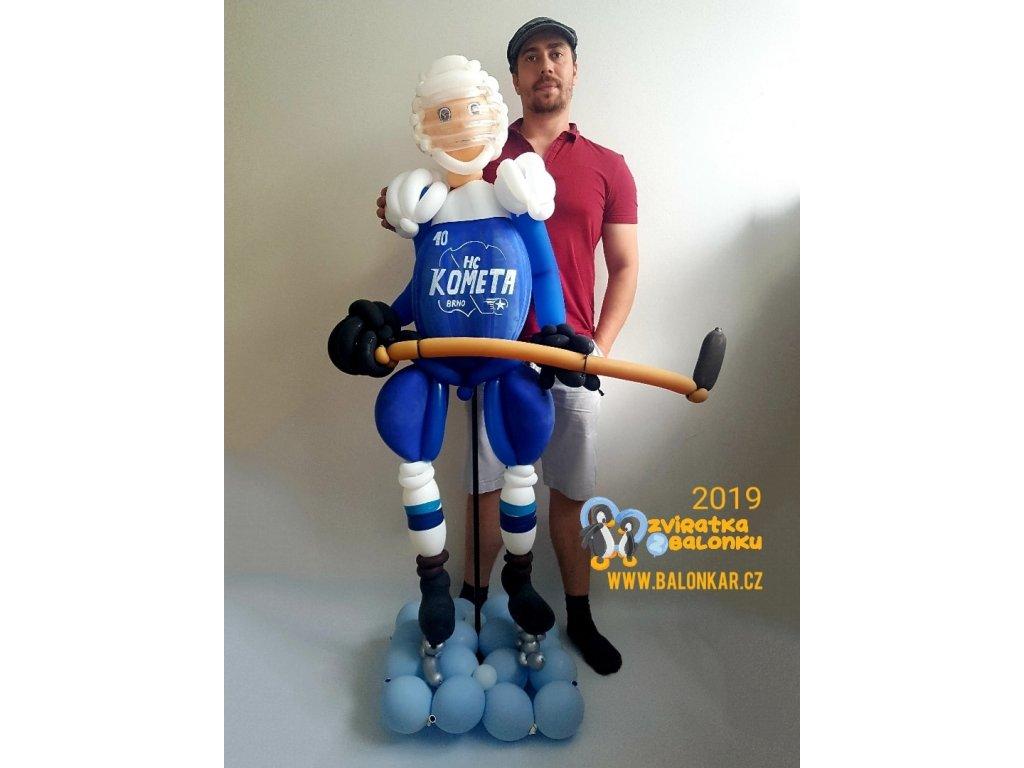 hokejista hokejistu fanouška dárek dárky hockey player kometa komeťák pro děti balonky narozeniny narozeninové balonek