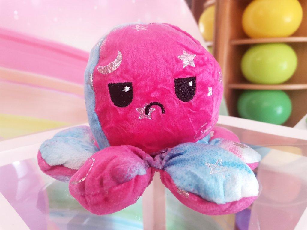 Plyšová Chobotnice duhová obousměrná oboustranná měnící obličej