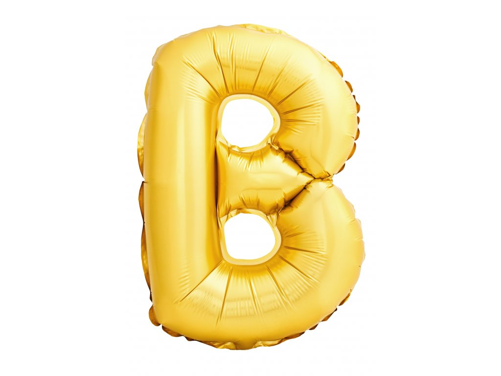 letter b made inflatable balloon isolated white background