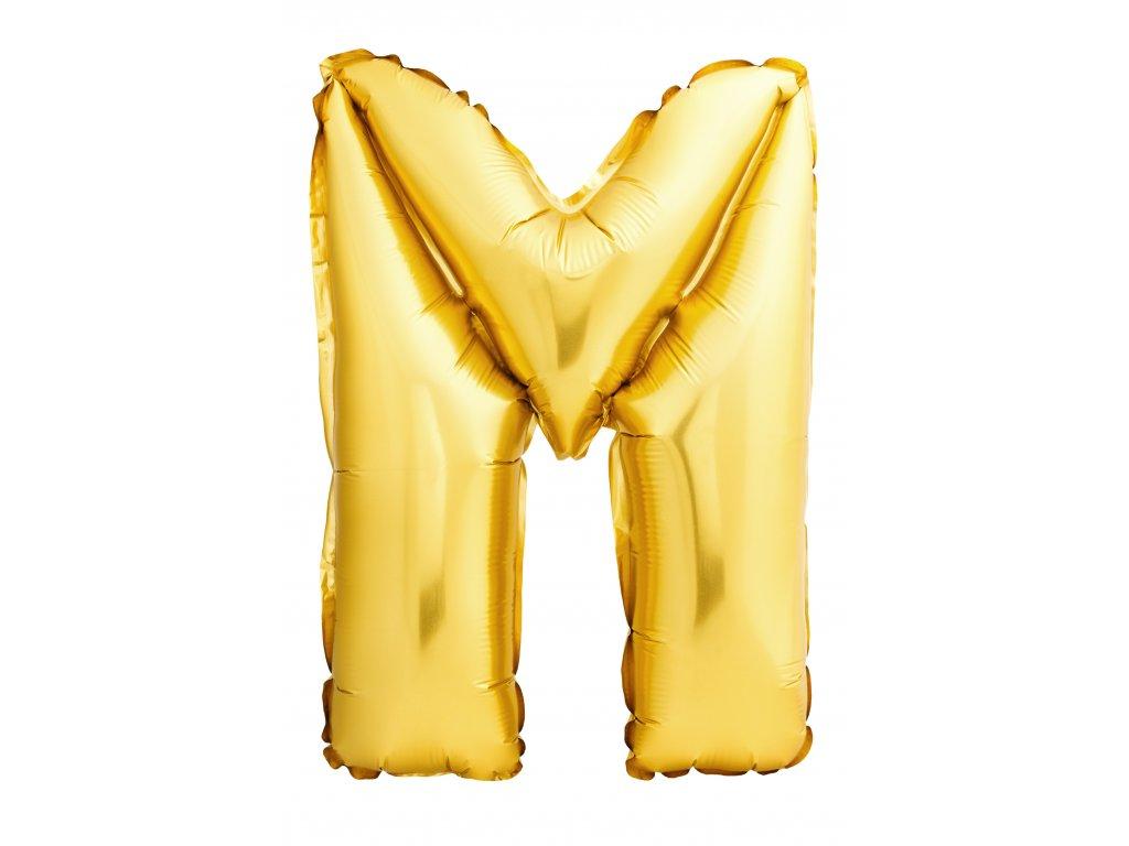 Balónek zlaté písmeno M