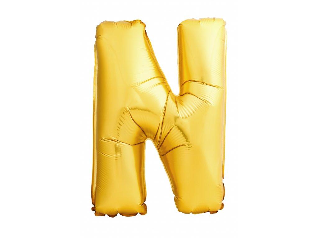 Balónek zlaté písmeno N