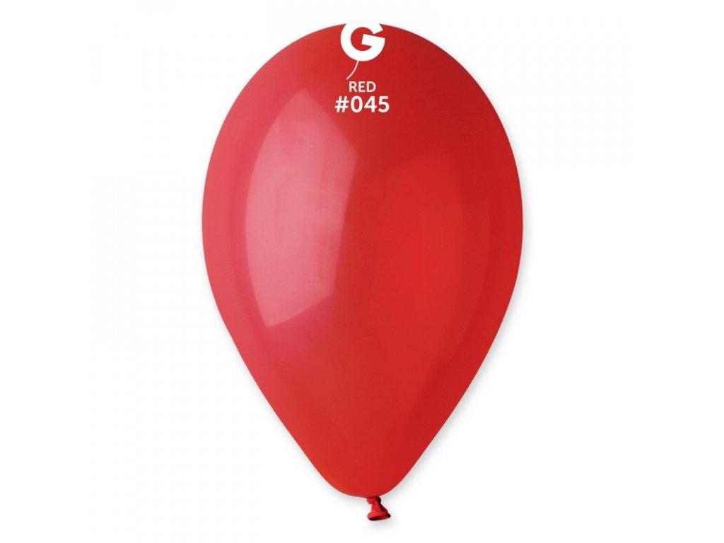 balonek kulaty cerveny