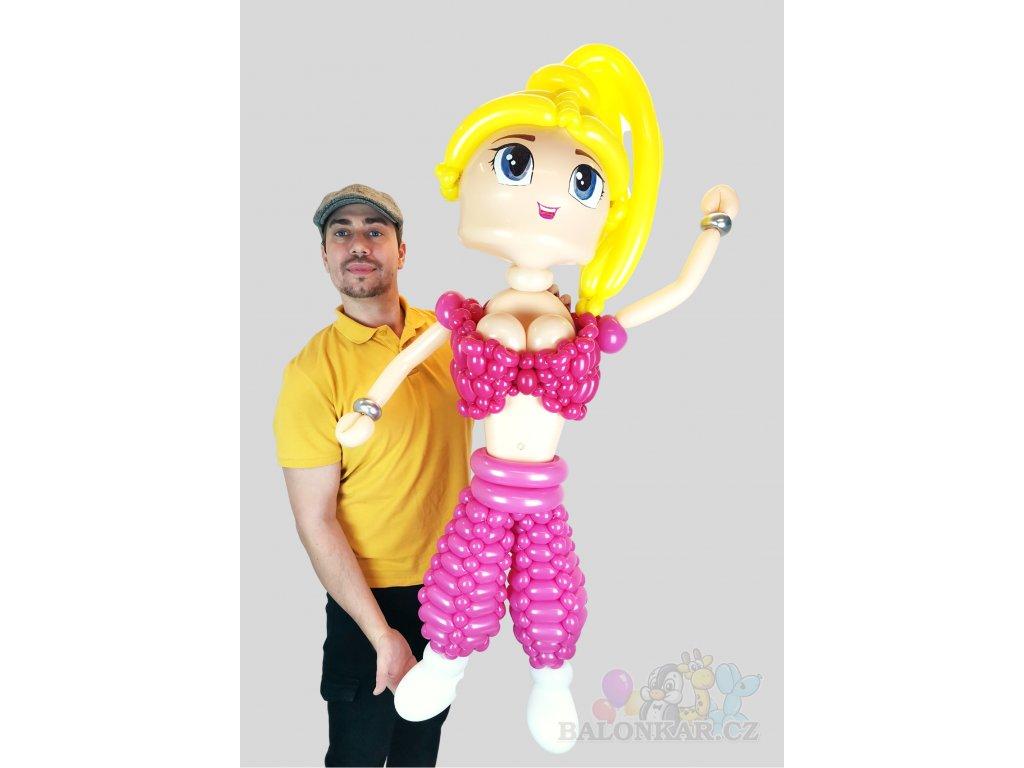 Postavička z balónků Barbie