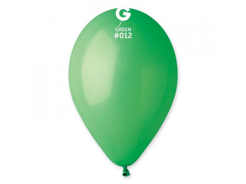 zelený balónek