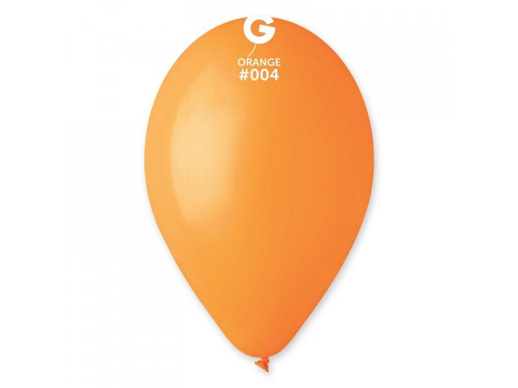 balonek kulaty oranzovy