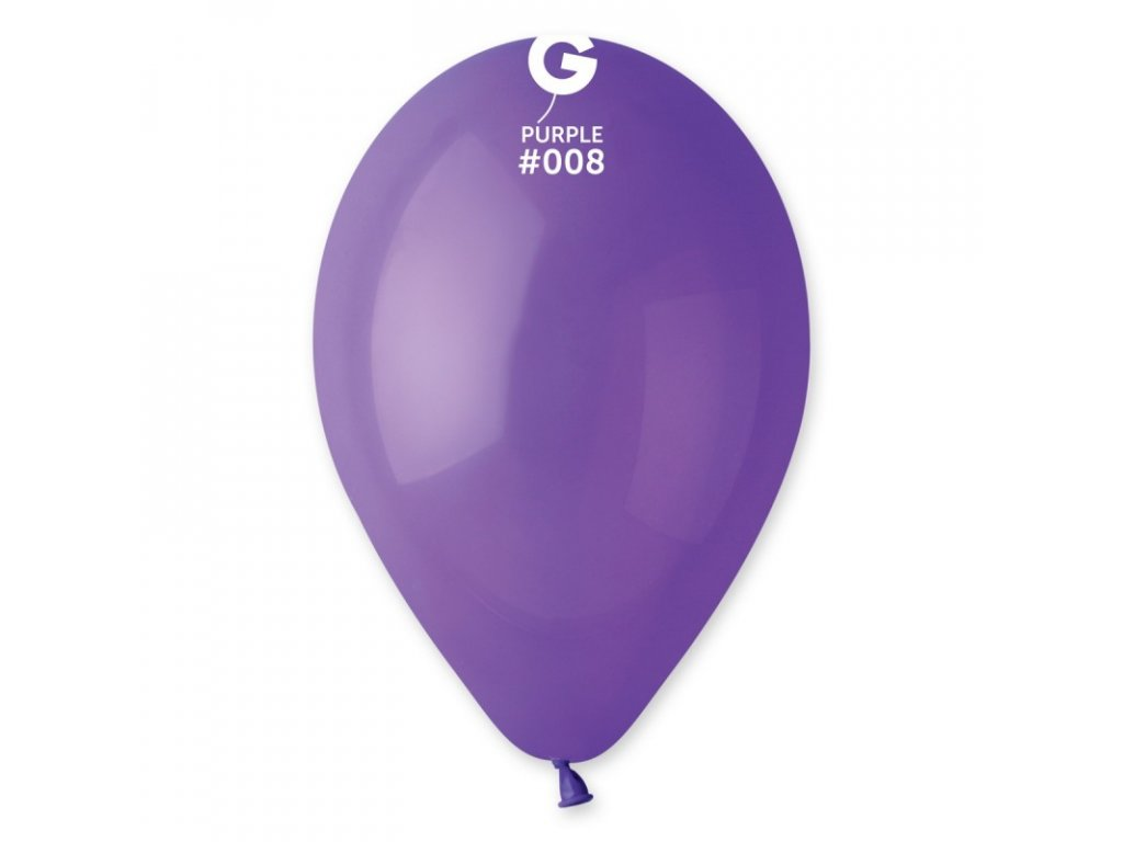 balonek kulaty fialovy