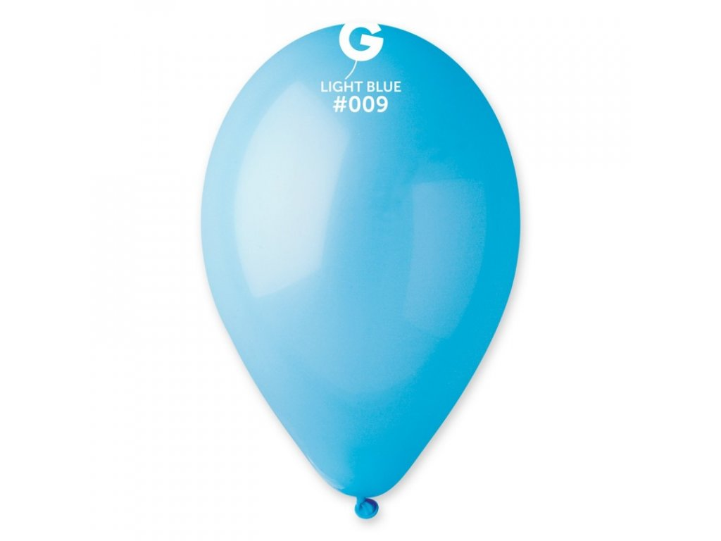 balonek kulaty svetle modry