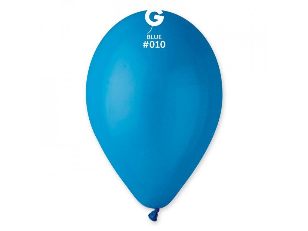 modrý balonek