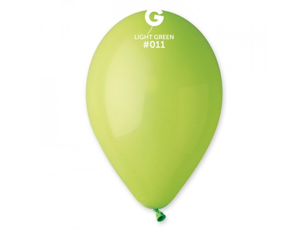 světle zelený balónek