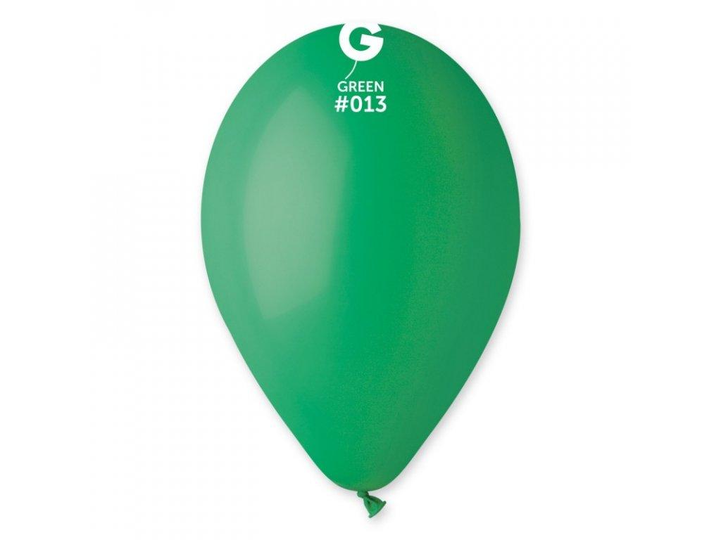 zelený balonek