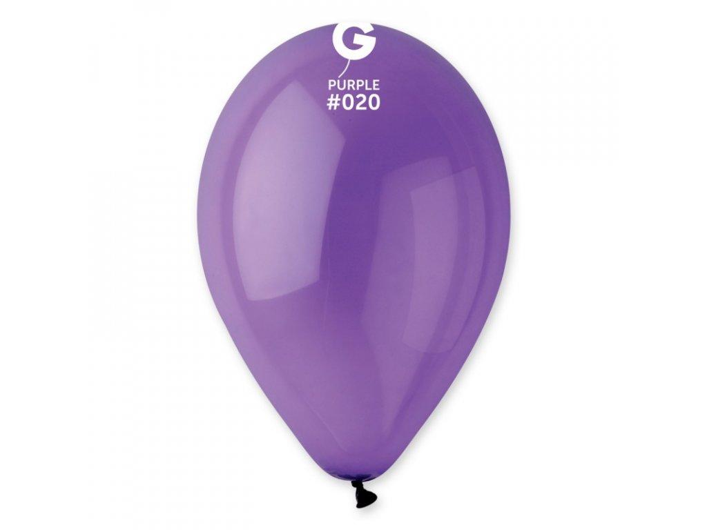 fialový balonek