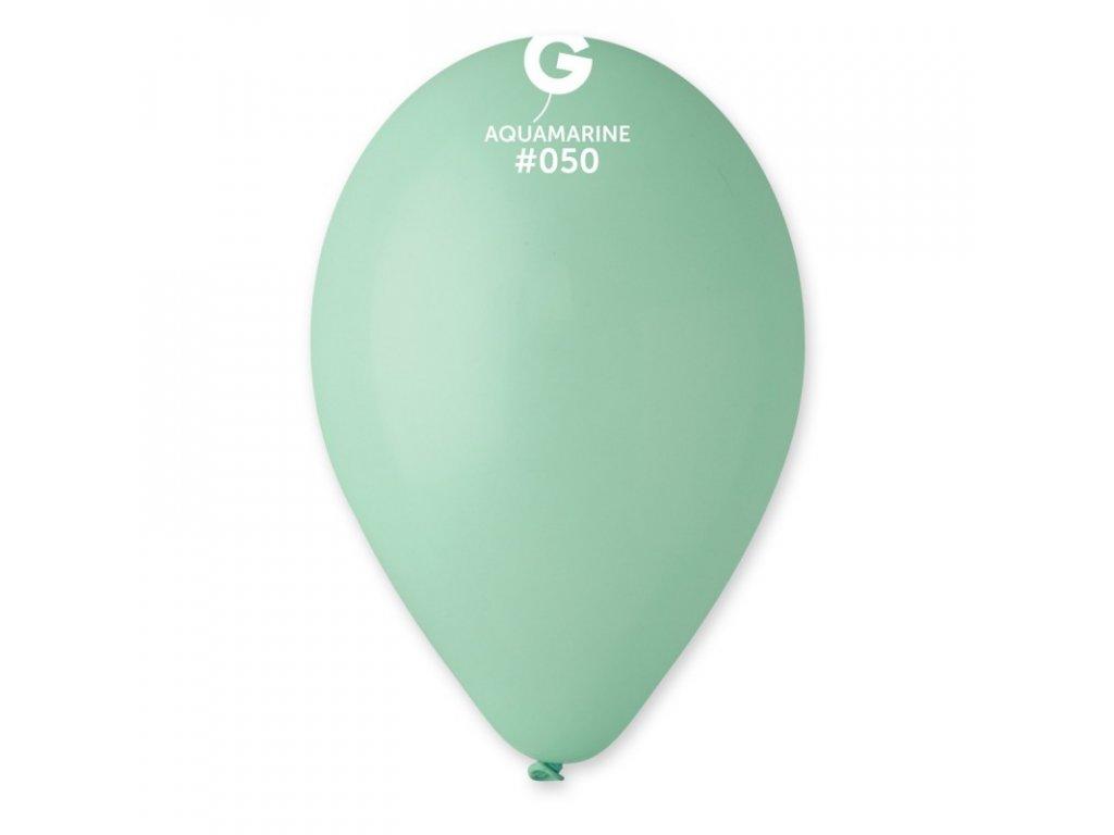 akvamarinový balonek
