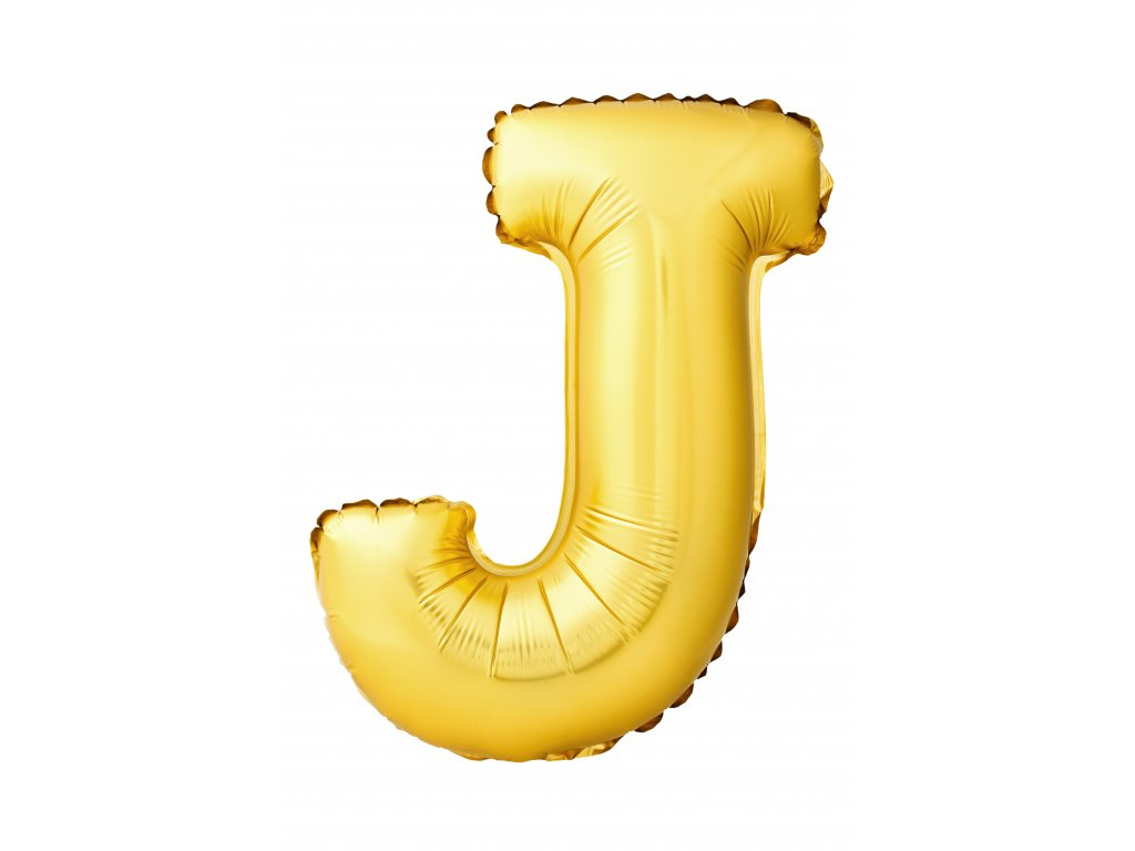 letter j made inflatable balloon isolated white background