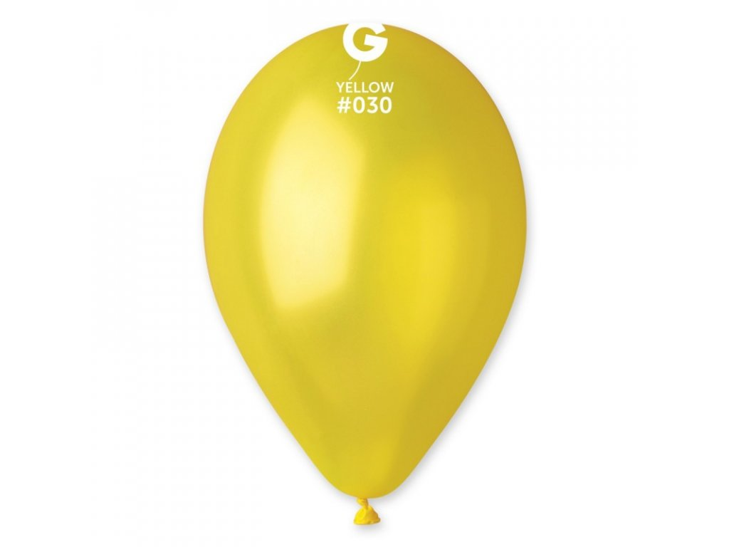 metalický žlutý balonek
