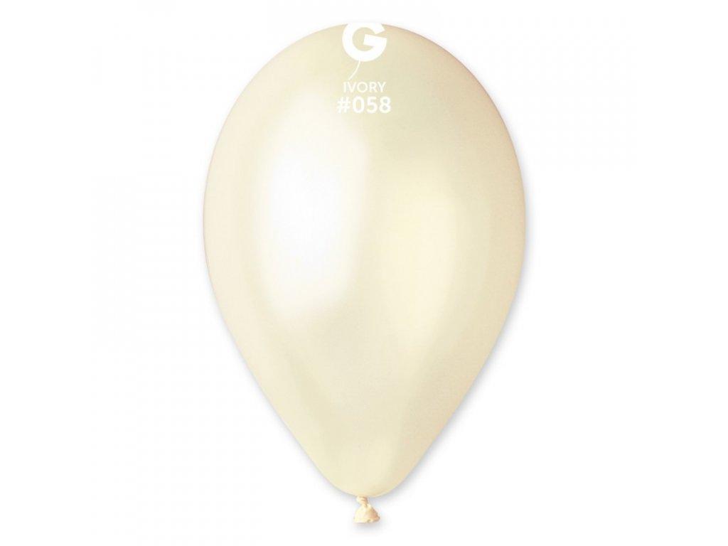 slonová kost metalický balonek