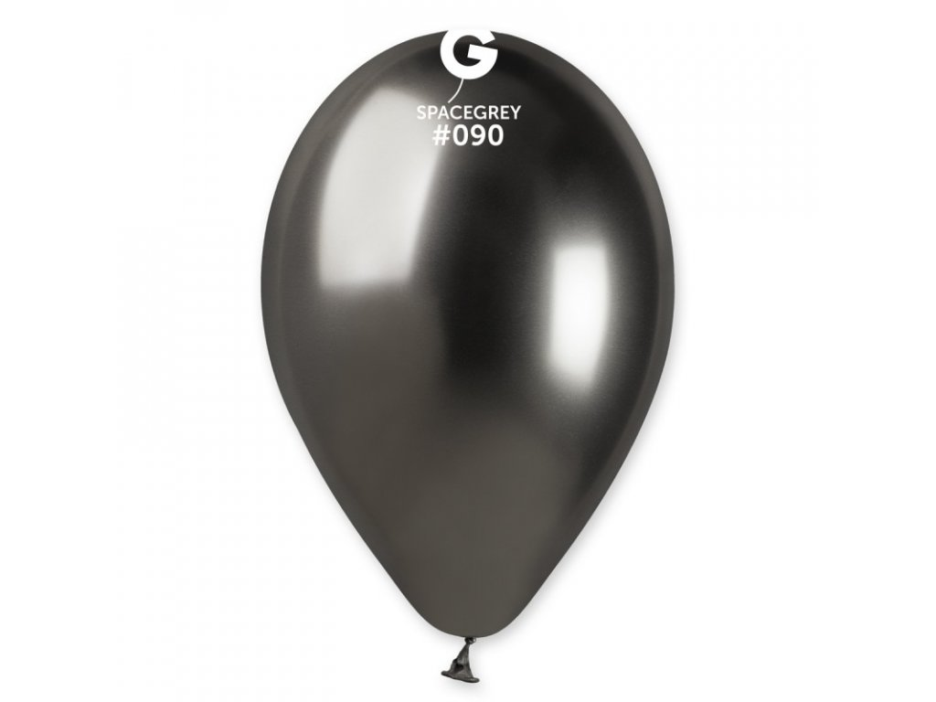 chromový šedý balonek