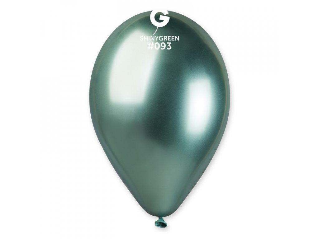 chromový zelený balonek