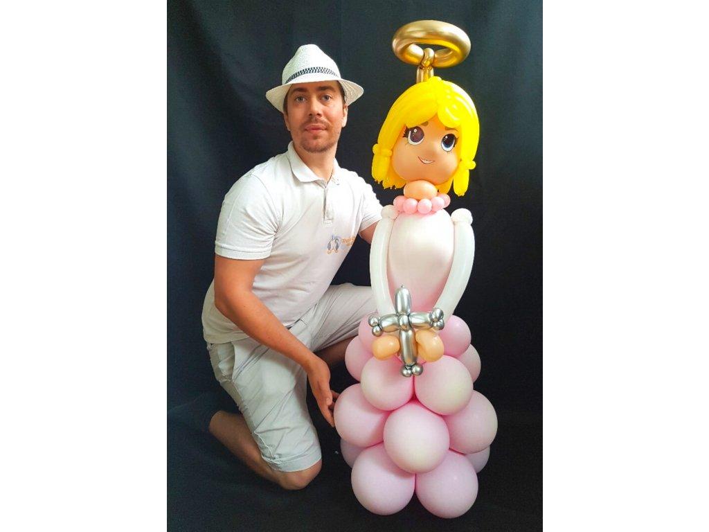 Postava z balónků Anděl