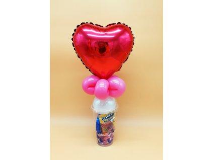 valentýn srdce kelímek balónky narozeninové párty z balónků (1)