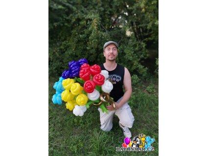 Balónek kytice Miluji tě